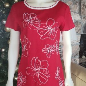 Size 4 Red Linen Career Dress